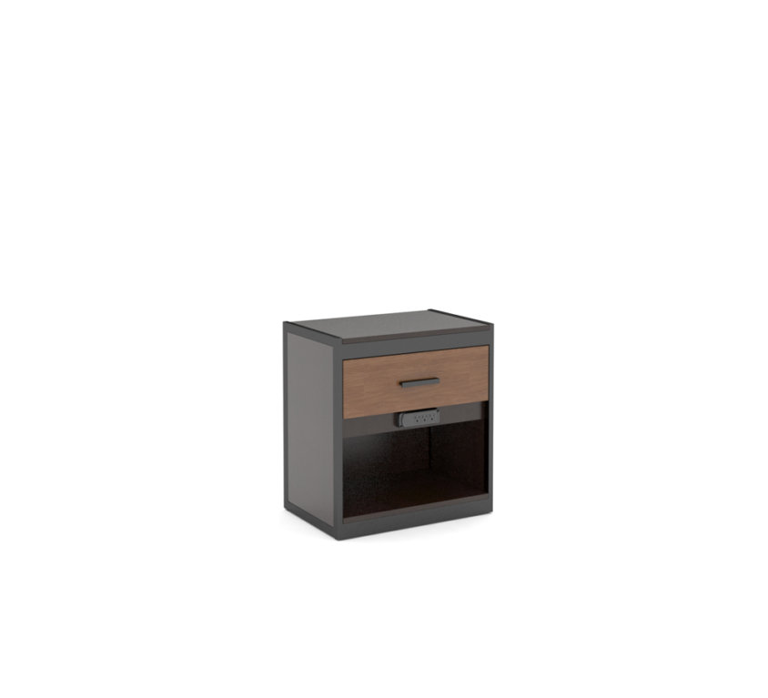 "Nightstand 24"" With DRAWER AND Plug"