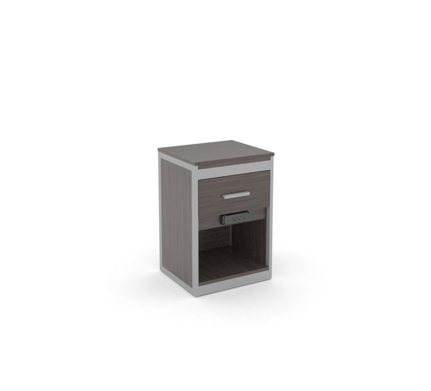 Nightstand Plus with Drawer and Plug