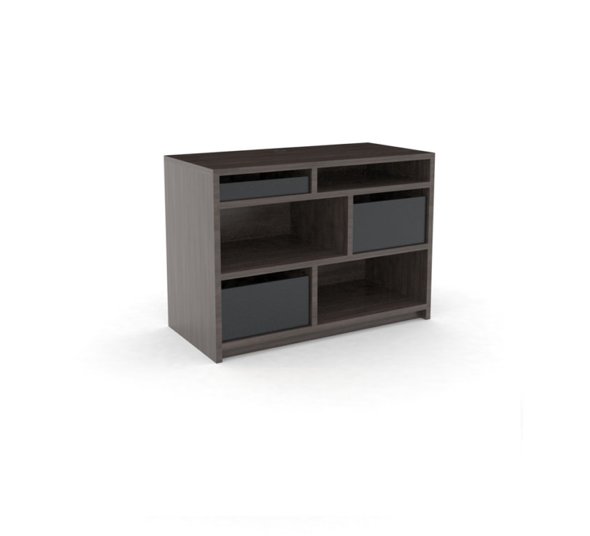 Dresser 3-Drawer, Grey_ALT