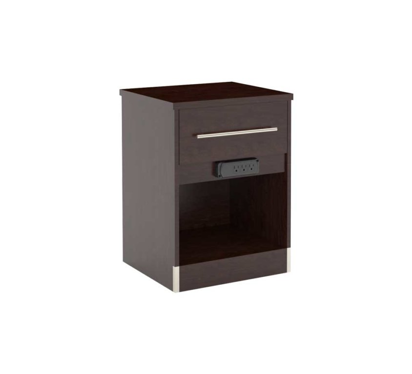 "16"" Nightstand-King (FN-108) 3 CONVENIENCE OUTLETS"