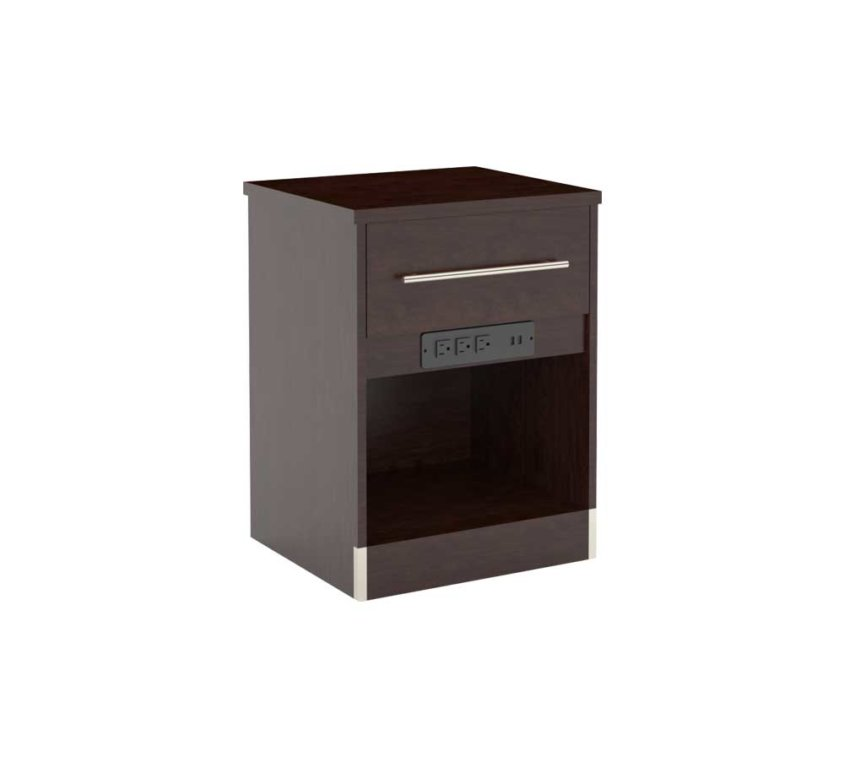 "18"" Nightstand (FN-109) 3 CONVENIENCE OUTLETS and USB"