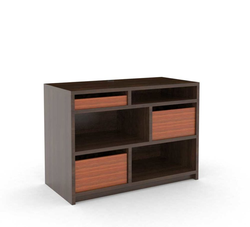 Dresser 3-Drawer, Walnut_ALT GR-406.1 ALT-CG