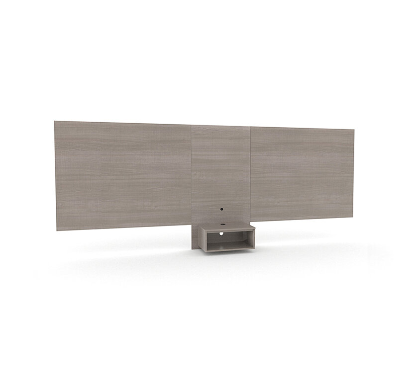 QUEEN 36″ Headboard/Nightstand With Round Dual USB